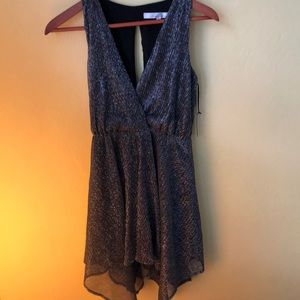 Lovers + Friends silver dress NWT